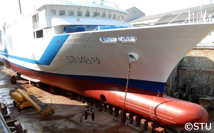 船名塗装完了後のSTU48号